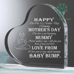 happy on our 1st mother' day mummy mother' day... baby bump Heart Keepsake %tag familyloves.com