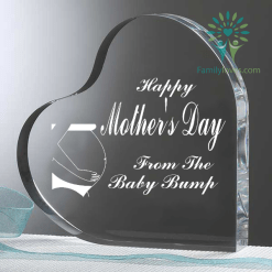 Happy mother's day from the baby bump Heart Keepsake %tag familyloves.com