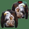 familyloves.com Native American Eagle Spirit Over Print Jacket %tag