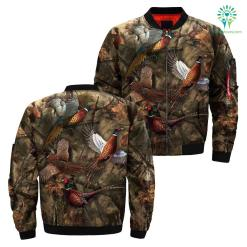familyloves.com 3D All Over printed pheasant hunting jacket %tag