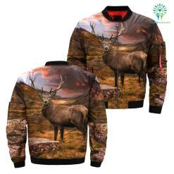 familyloves.com Deer hunting camo all over print jacket %tag