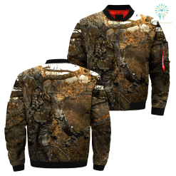familyloves.com 3D All Over Printed Bowl Hunting jacket %tag