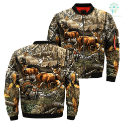 familyloves.com 3D All Over Printed Hunting jacket %tag