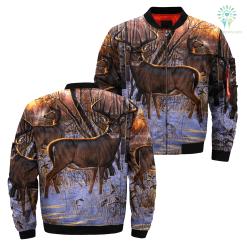 3D All Over Printed Deer Art jacket %tag familyloves.com