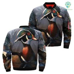 familyloves.com DUCK HUNTING OVER PRINT JACKET %tag