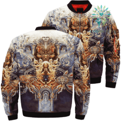 Praying To Jesus Christ In Heaven Over Print Jacket %tag familyloves.com