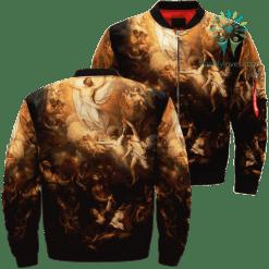 Jesus - The Ascension Of God Over Print Jacket %tag familyloves.com