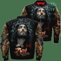 Poster Of Jesus Over Print Jacket %tag familyloves.com