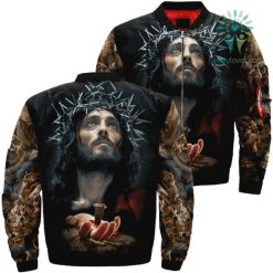 Poster Of Jesus Over Print Jacket %tag familyloves.com