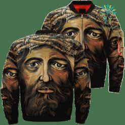 Retrato De Jesucristo Over Print Jacket %tag familyloves.com