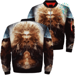 Android Jesus Over Print Jacket %tag familyloves.com