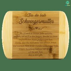FÜR DIE BESTE SCHWIEGERMUTTER BAMBUS-SCHNEIDEBRETT %tag familyloves.com
