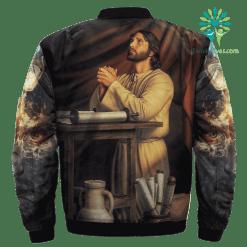 familyloves.com The Prayer Of Jesus Over Print Jacket %tag