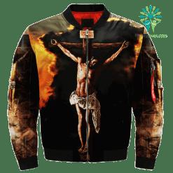 familyloves.com My Saviour My Lord My God Over Print Jacket %tag