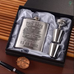 I Will Live By This Oath Until... U.S air force veteran Portable Stainless Steel Boxed Laser Engraving %tag familyloves.com