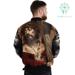 familyloves.com Jesus Christ Comes From Heaven Over Print Jacket %tag