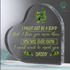 I Might Just Be A Bump But I Love You More Than You Heart Keepsake %tag familyloves.com
