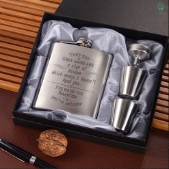 They Say Grey Hairs Are A Sign Of Wisdom Which Means I Haven't Aged You. I've Made You Smarter. You're Welcome…Portable Stainless Steel Boxed Laser Engraving %tag familyloves.com