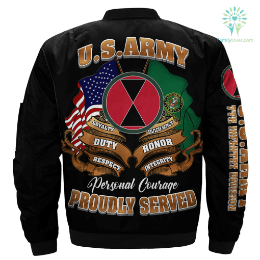 7th Infantry Division U.S Army Over Print Jacket %tag familyloves.com