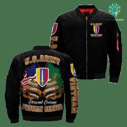 familyloves.com U.S. ARMY VIETNAM Over Print Jacket %tag