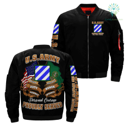3rd Infantry Division U.S Army Over Print Jacket %tag familyloves.com