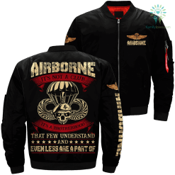 familyloves.com Airborne it's not a club it's a brotherhood that few understand... Over Print Jacket %tag