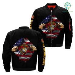 familyloves.com US Marines Hero Of America Over Print Jacket %tag