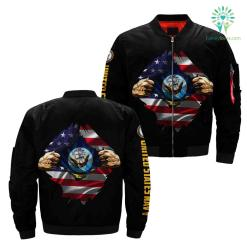 US Navy Hero Of America Over Print Jacket %tag familyloves.com