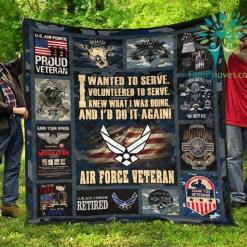 I wanted to serve. I volunteered to serve... Air Force Veteran quilts %tag familyloves.com