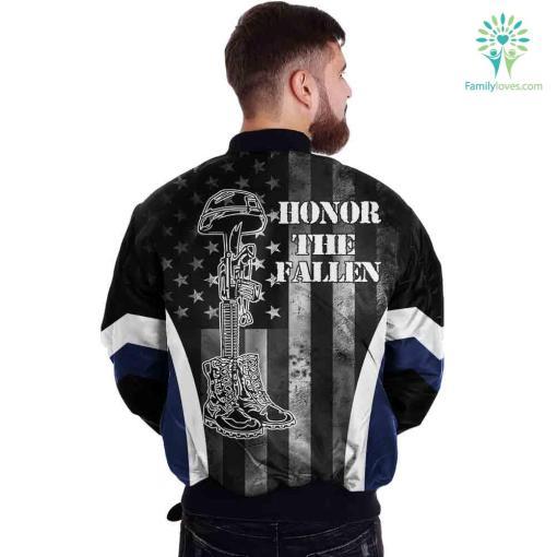 Navy Veteran Honor The Fallen Over Print Jacket %tag familyloves.com