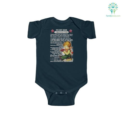 To My Son I sometimes wish Infant Fine Jersey Bodysuit %tag familyloves.com
