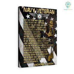 When I Was Young Many Years Ago I Joined The Navy Veteran Canvas %tag familyloves.com