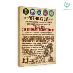 Veteran Day, On The 11TH Hour Of The 11TH Day OF The 11TH Month Canvas 11th american american veteran canvas collection cotton image military proud quality veteran %tag familyloves.com