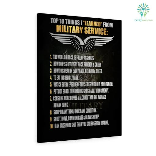 Top 10 things I learned from Military Canvas %tag familyloves.com