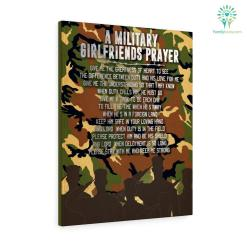 A Military Girlfriends Prayer Canvas %tag familyloves.com