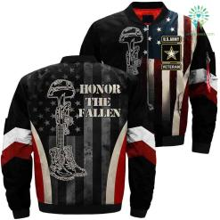 Army Veteran Honor The Fallen Over Print Jacket %tag familyloves.com