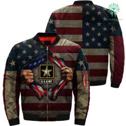 Army Hero Over Print Jacket %tag familyloves.com
