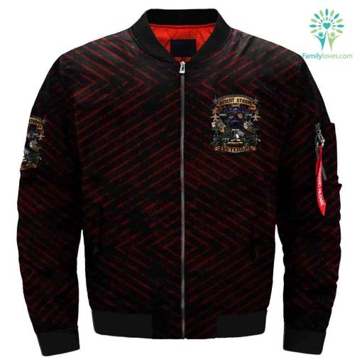 Desert Storm Massive, Furious, Lethal, Precise Veteran Over Print Jacket %tag familyloves.com