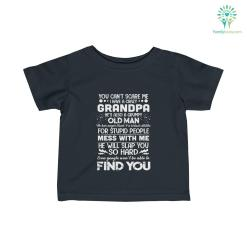 I Have a Crazy Grandpa Infant Fine Jersey Tee %tag familyloves.com
