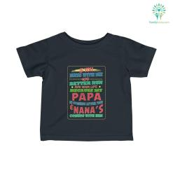Better Run For Your Life – Papa And Nana's Are Coming Infant Fine Jersey Tee %tag familyloves.com