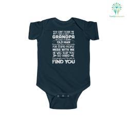 I Have a Crazy Grandpa Kids Infant Fine Jersey Bodysuit %tag familyloves.com