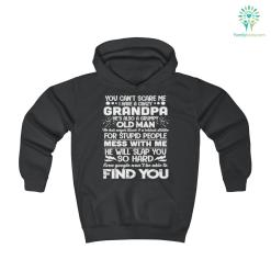 I Have a Crazy Grandpa Youth Hoodie 50% colors hood hoodie length warm youth youth hoodie %tag familyloves.com