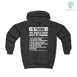 5 Thing You Should Know About My Grandma Youth Hoodie %tag familyloves.com