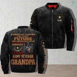 I served my country for my children's future... army veteran grandpa Over Print Jacket %tag familyloves.com