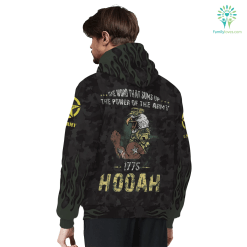 THE POWER OF THE ARMY SHERPA HOODIE hoodie lined sherpa sherpa lined %tag familyloves.com