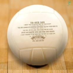 To our son i want you to believe deep in your heart that...love mom and dad Volleyball %tag familyloves.com