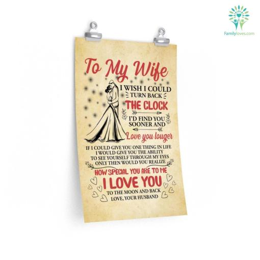To My Wife Custom Photo Posters Gift, Letters From Husband To Wife Posters %tag familyloves.com