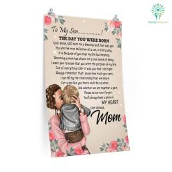Letter To My Son The Day You Were Born Posters Gifts From Mom %tag familyloves.com