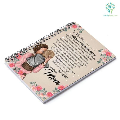 Letter To My Son The Day You Were Born Notebook Gifts From Mom 120 cover line notebook ruled ruled line spiral spiral notebook %tag familyloves.com