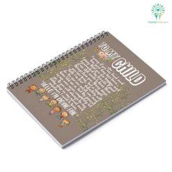 To my child I worry if you are tired and how your day has been Notebook gifts for mom %tag familyloves.com